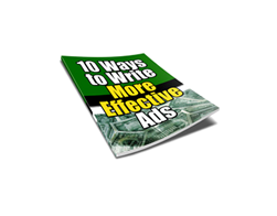Free PLR eBook – 10 Ways to Write More Effective Ads
