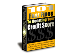 Free PLR eBook – 101 Fast Fixes to Boosting Your Credit Score