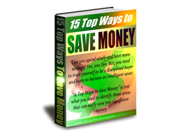Free PLR eBook – 15 Top Ways to Save Money
