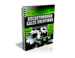 Free PLR eBook – Breakthrough Sales Solutions