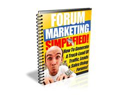 Free PLR eBook – Forum Marketing Simplified