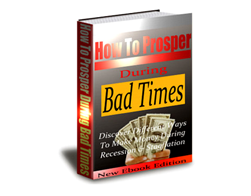 Free PLR eBook – How to Prosper During Bad Time