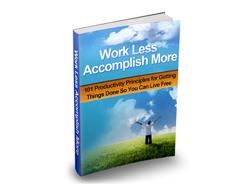 Free MRR eBook – Work Less Accomplish More